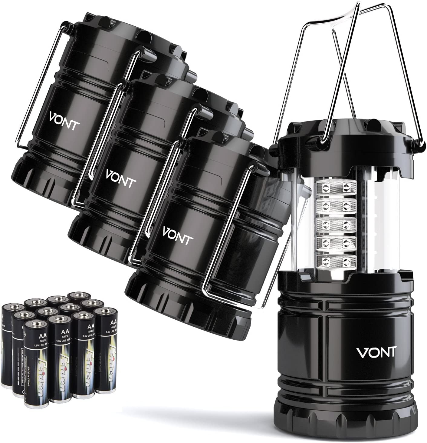 Vont LED Camping Lantern – 4 Pack