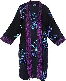 Women's Plus Size Long Kimono Cardigan Jacket with...