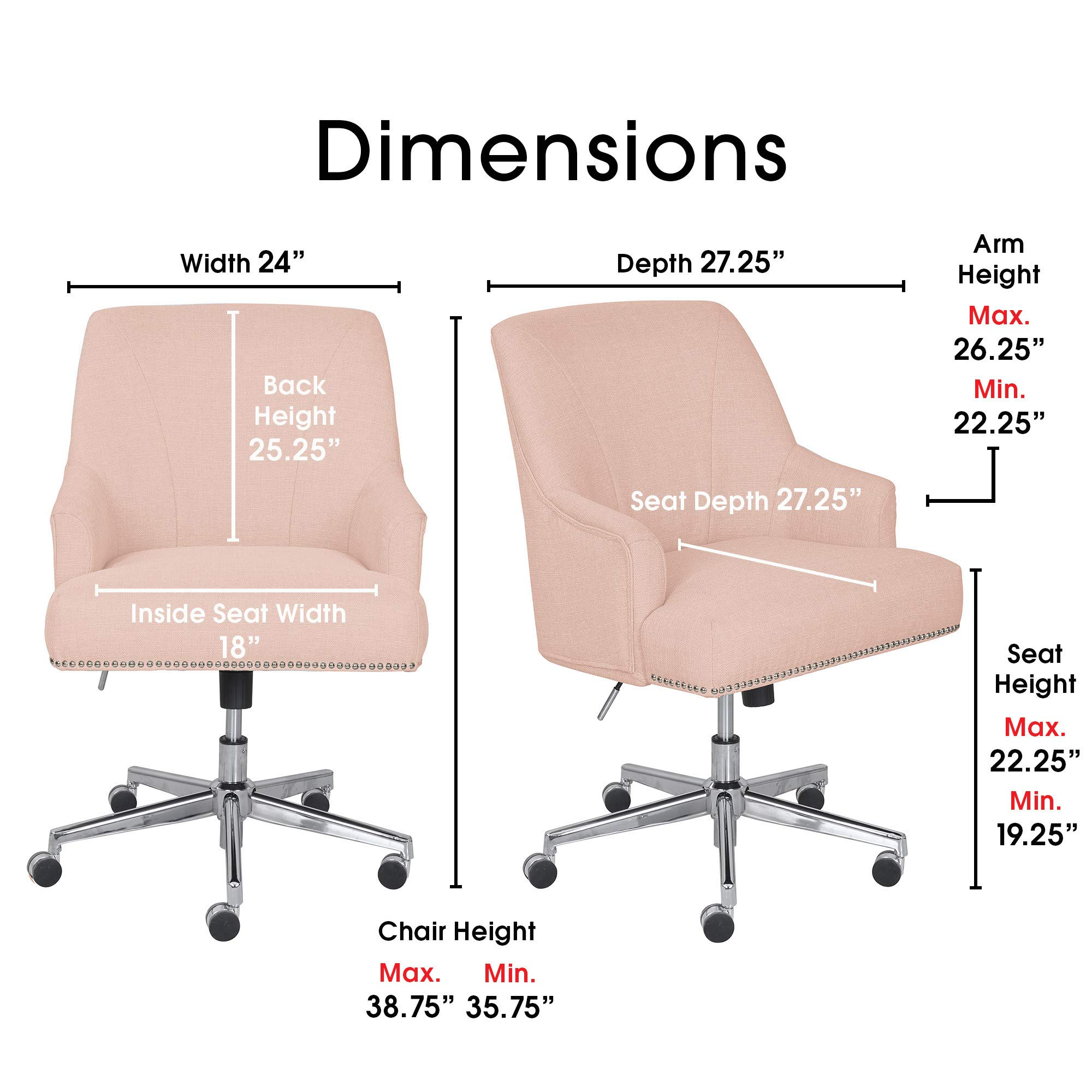 Serta Style Leighton Home Office Chair Inviting Graphite Twill Fabric Buy Online In South Africa Serta Products In South Africa See Prices Reviews And Free Delivery Over R1 000 Desertcart