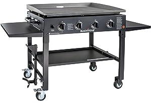 Blackstone 1554 Station-4-burner-Propane Fueled-Restaurant Grade-Professional 36 inch Outdoor Flat Top Gas Grill Griddle Station-4-bur, 36
