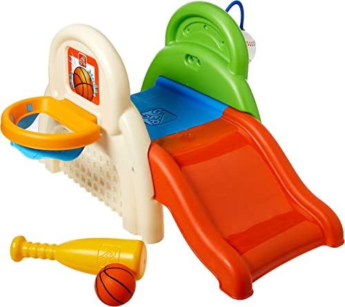 Step2 Sportastic Activity Center multicolored with basketball hoop, bat and ball