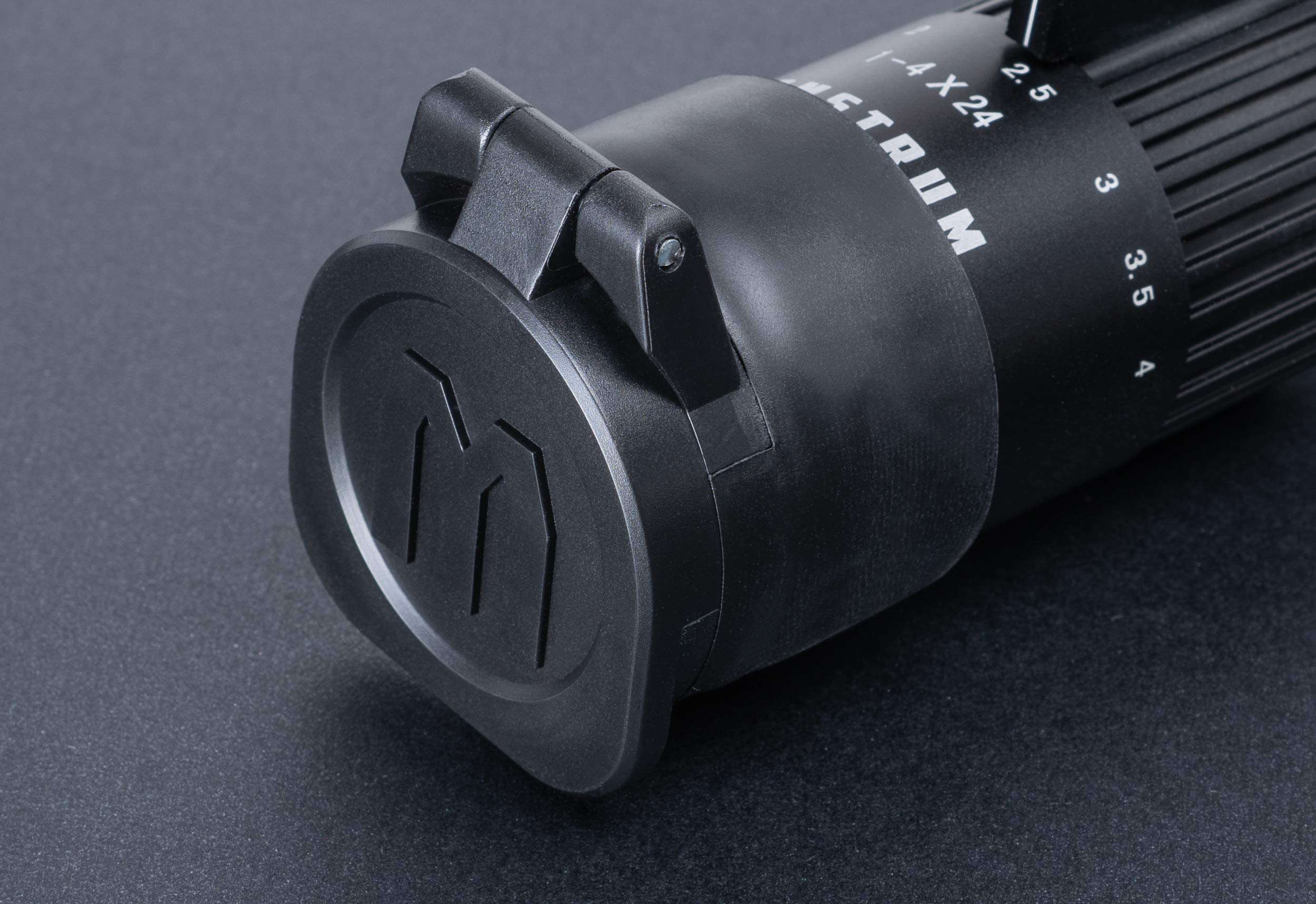Monstrum Rubberized Flip-Up Rifle Scope Lens Covers