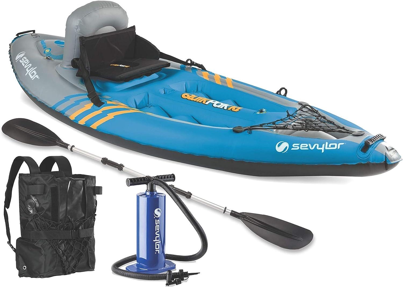 sevylor quikpak inflatable kayak bundle