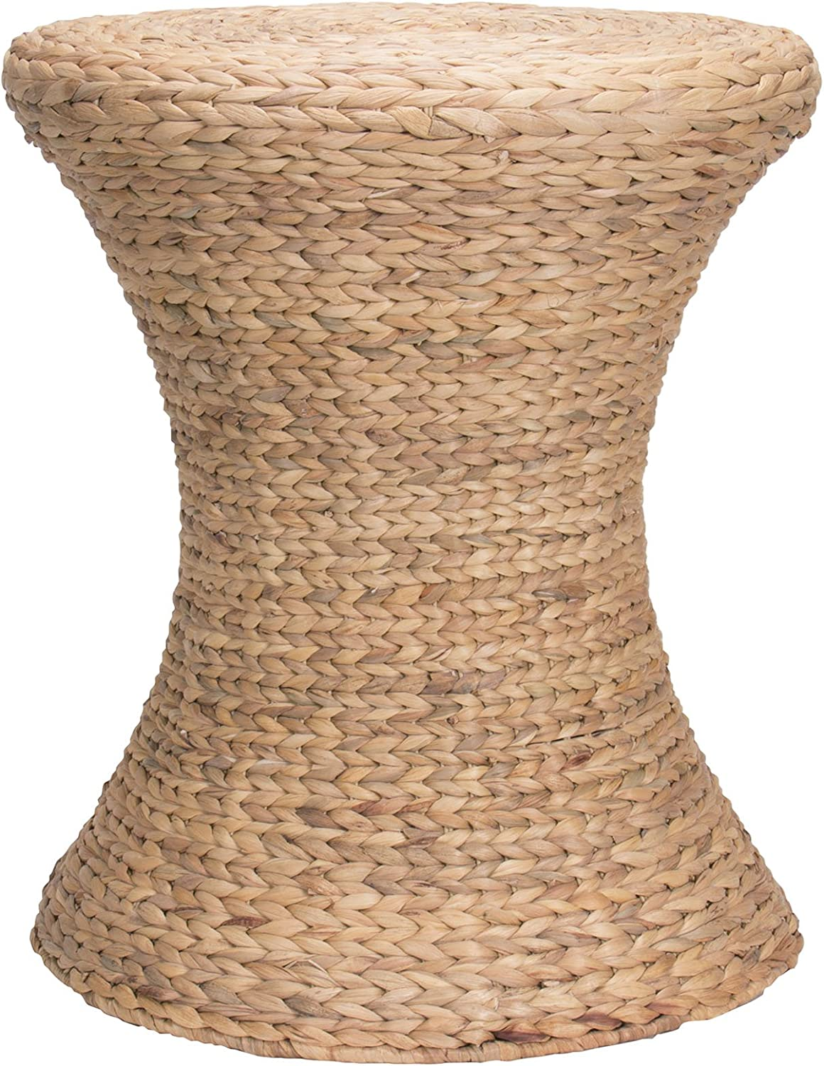 Hourglass Water Hyacinth Wicker Table