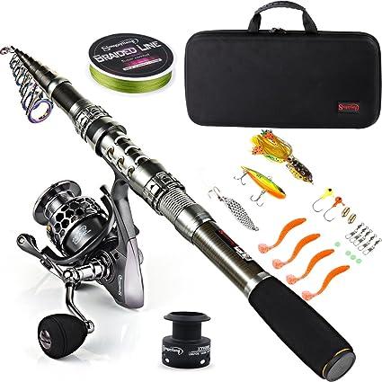 Sougayilang Telescopic Fishing Rod Combo