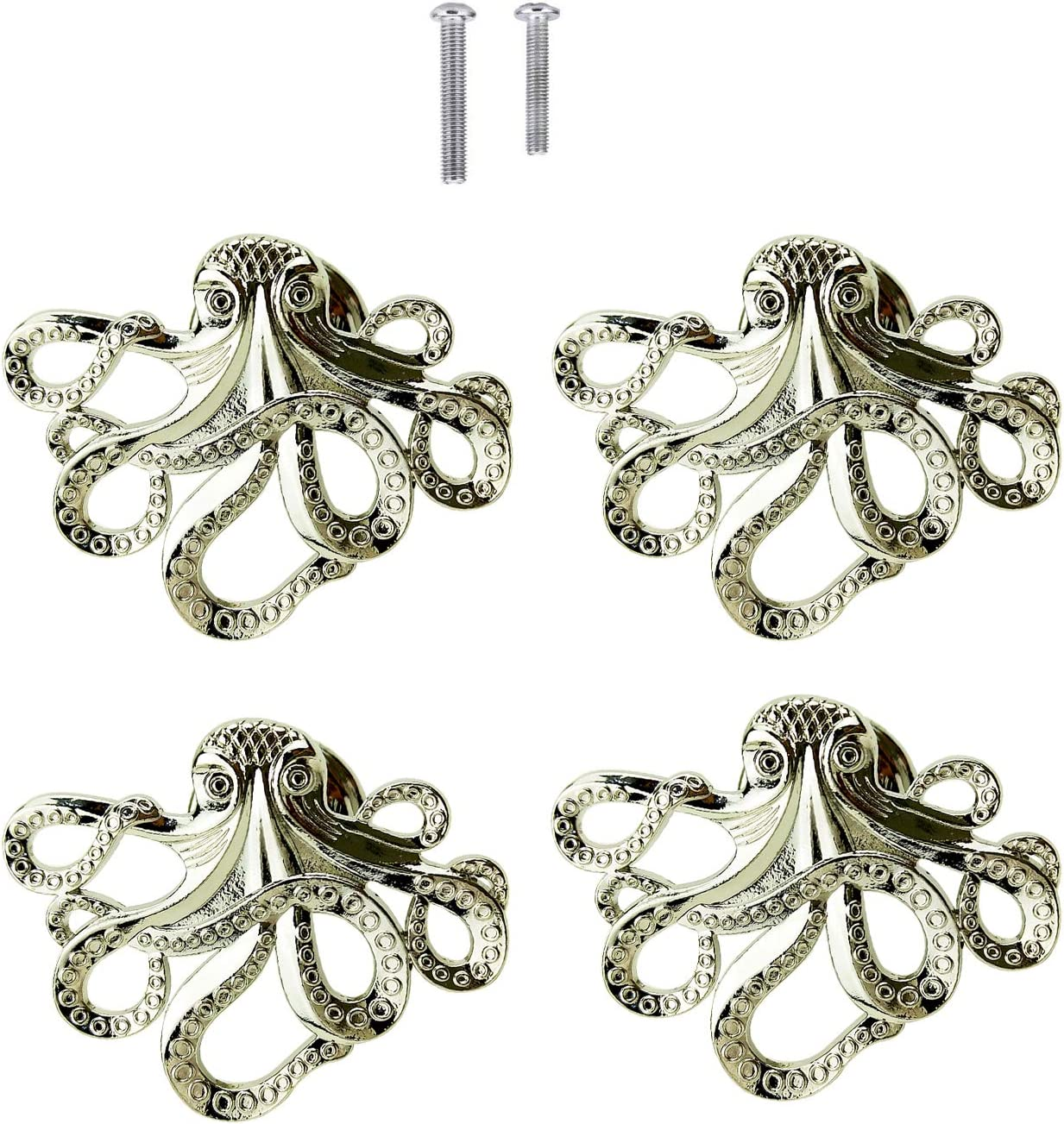 4 Octopus Drawer knobs
