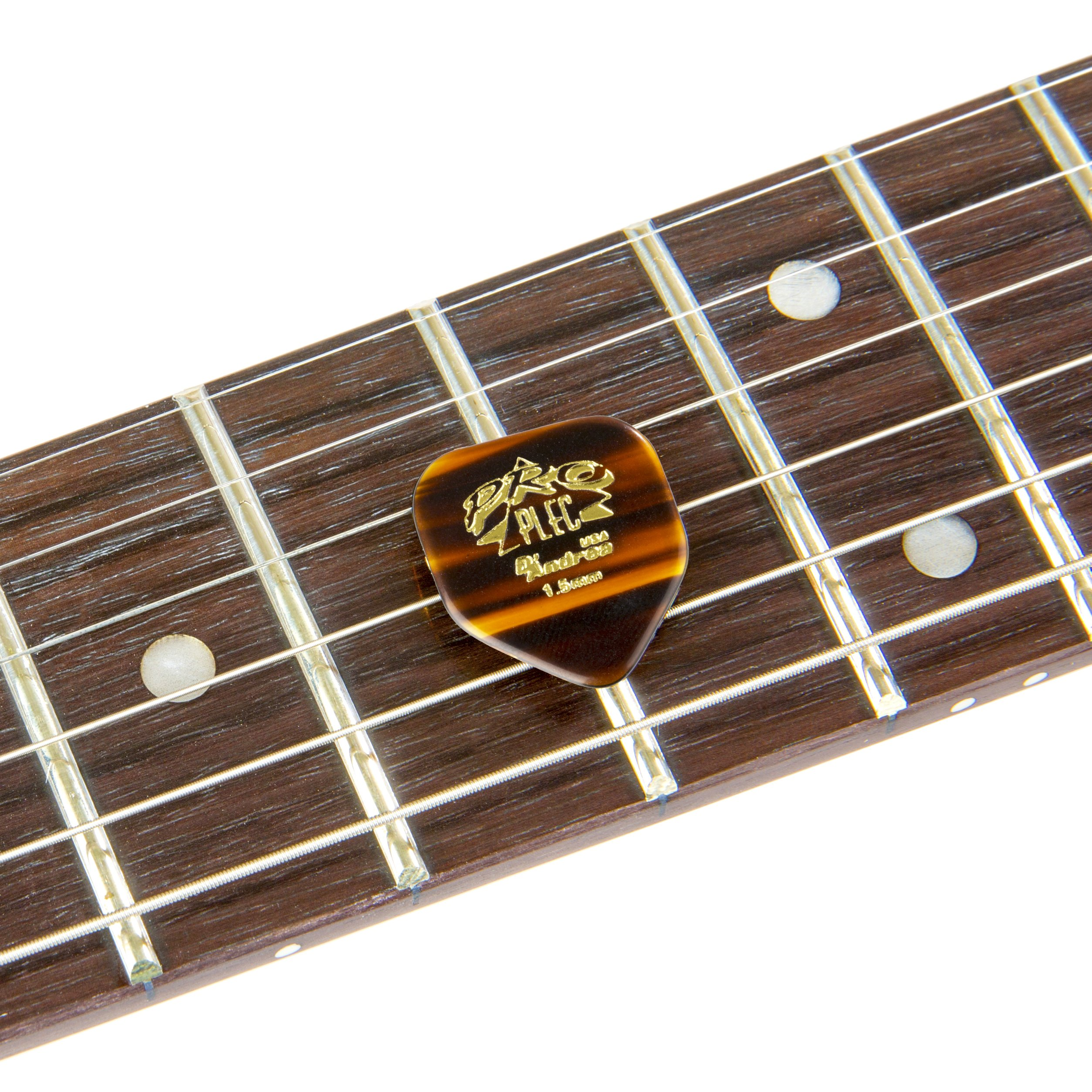 D/'Andrea PRO-330 Pro Plec 1.5mm Guitar Pick with Shell Finish 12 Piece, Pointed