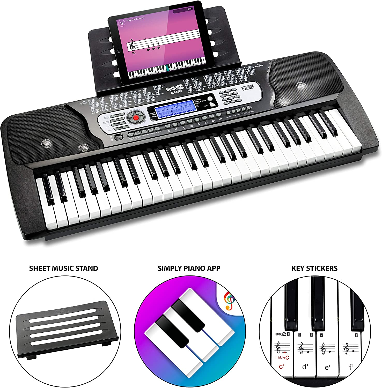 Rockjam 54-Key Portable Electronic Keyboard