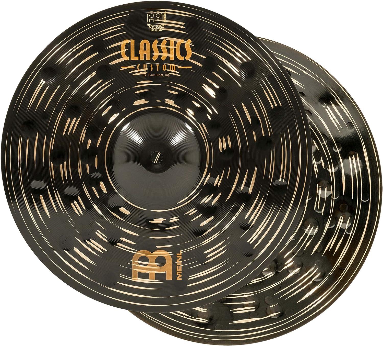 """Meinl 14"""" Hihat (Hi Hat) Cymbal Pair - Classics Custom Dark"""