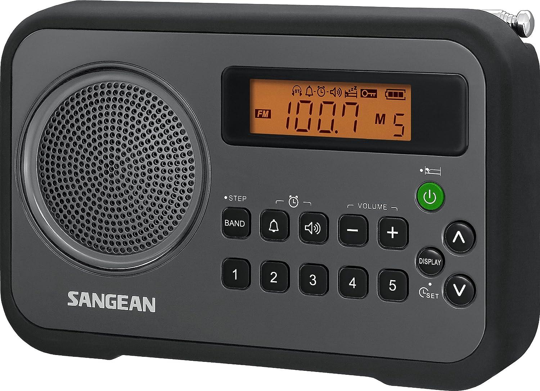 Sangean PR-D18BK AM/FM/Portable Digital Radio with Protective Bumper