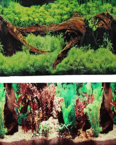Fish-Tank-Background-2-Sided-Driftwood-&-Floral