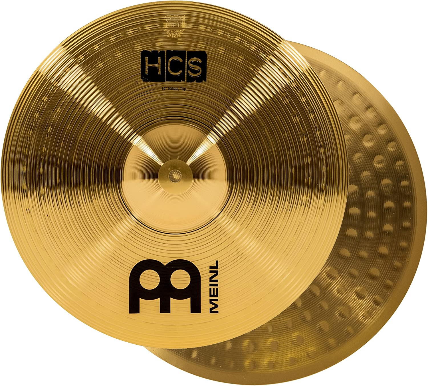 """Meinl 14"""" Hihat (Hi Hat) Cymbal Pair – Hcs Traditional Finish Brass For Drum Set"""