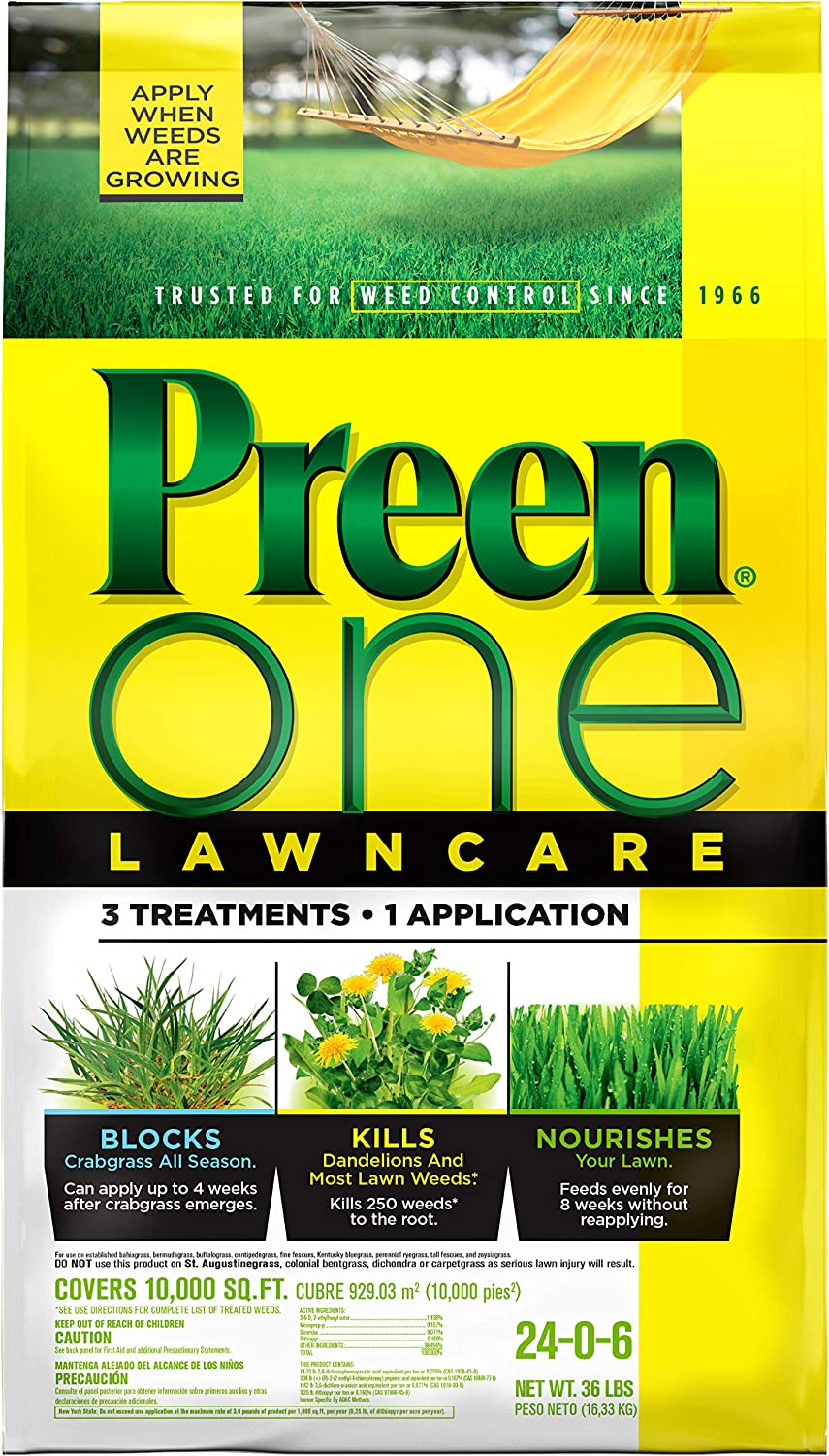 Preen One Lawn Care Weed & Feed