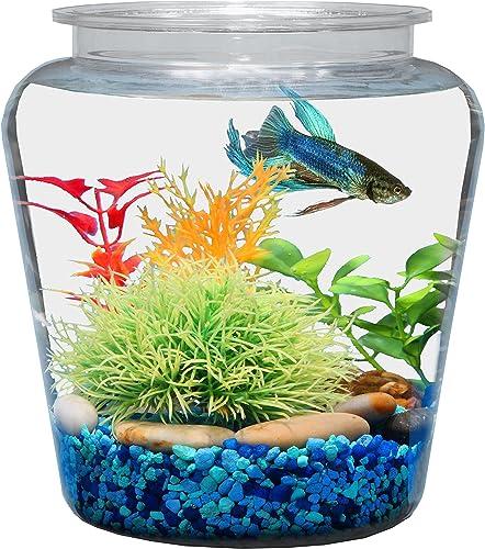Koller-Products-1-Gallon-Shatterproof-Plastic-Fish-Bowl