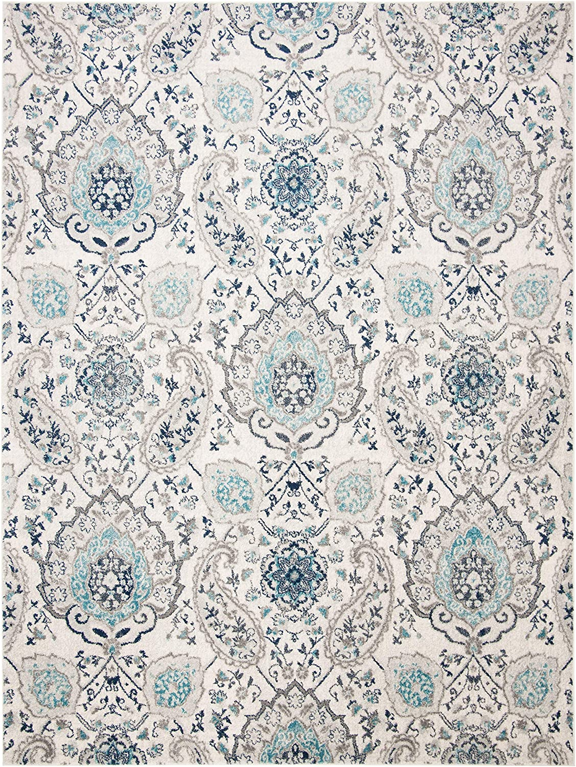 Bohemian Chic Glam Paisley Area Rug