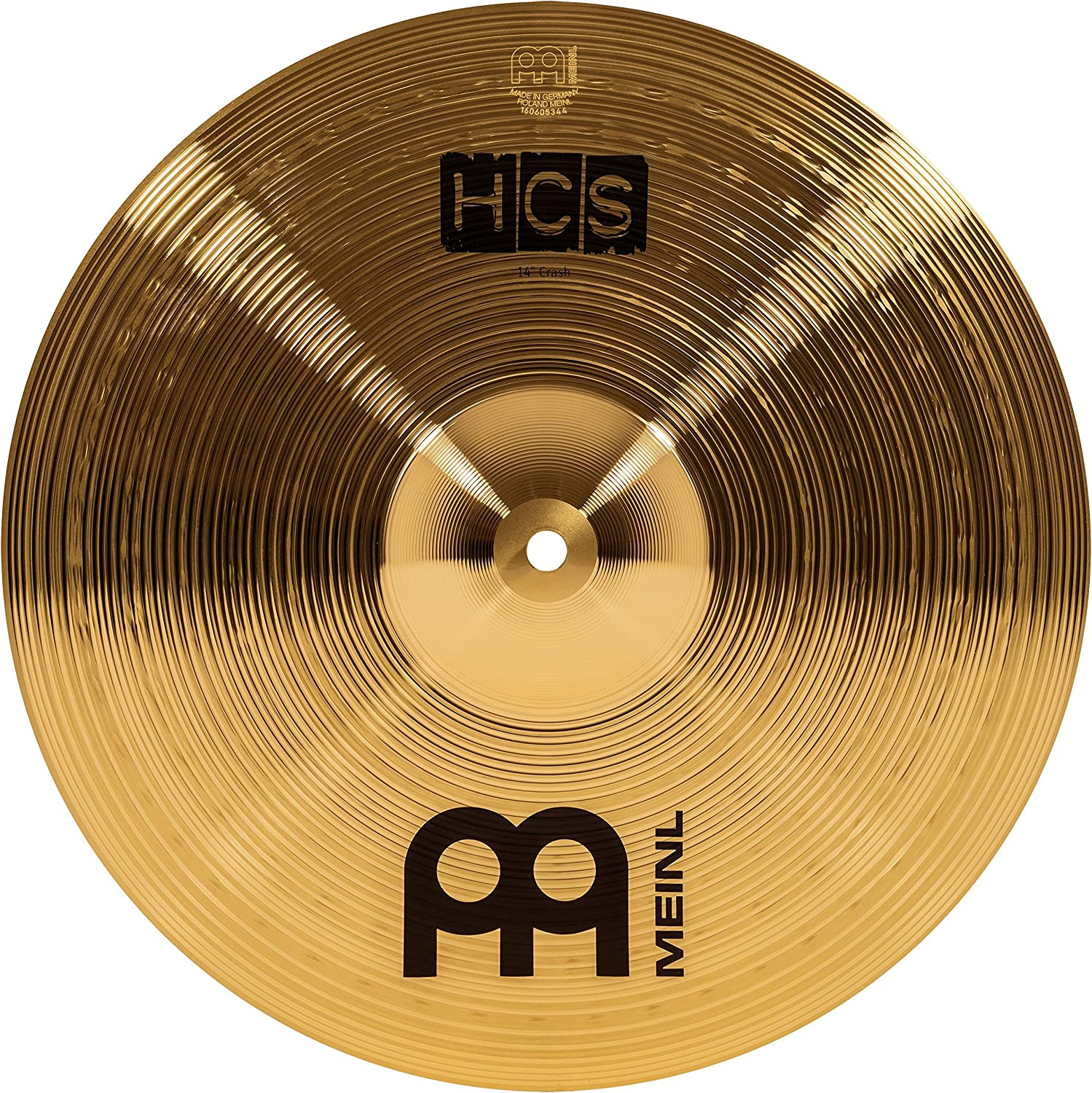 """Meinl 14"""" Crash Cymbal – Hcs Traditional Finish Brass For Drum Set"""