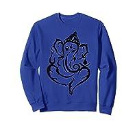 Elegant Lord Ganesha Hindu Indian Hinduism God As Elephant Shirts Sweatshirt Royal Blue