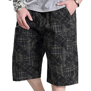 Camouflage Cargo Shorts Cotton