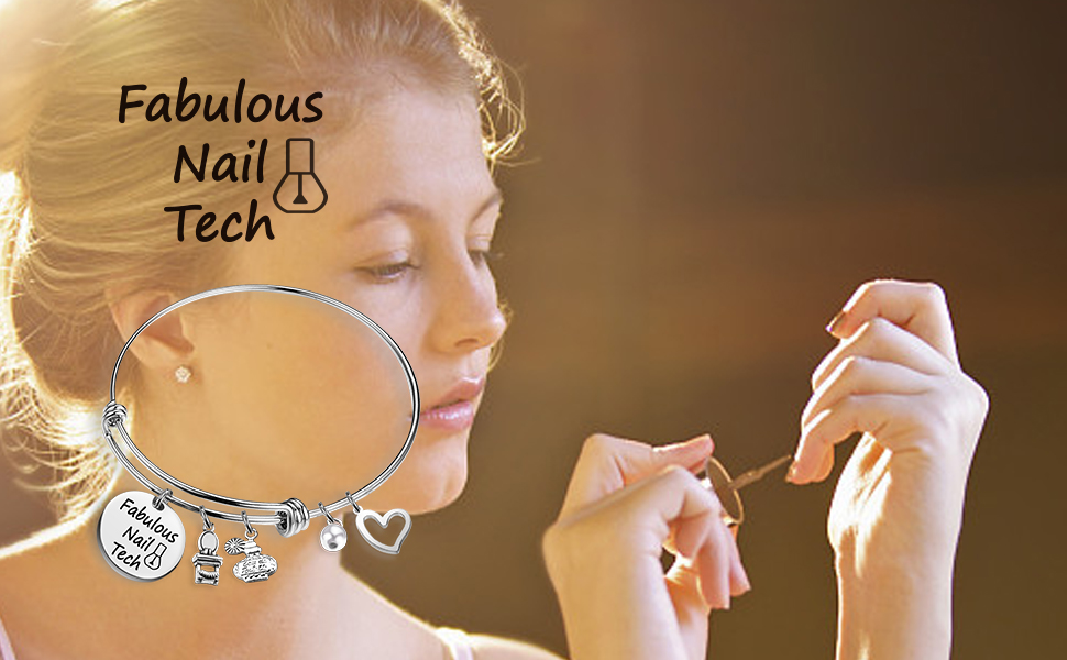 Manicurist Bracelet Fabulous Nail Tech Beautician Gift Nail Tech Charm