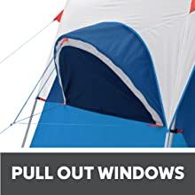 Rain proof windows angled tent windows for weather ready camping outdoor equipment water resistant