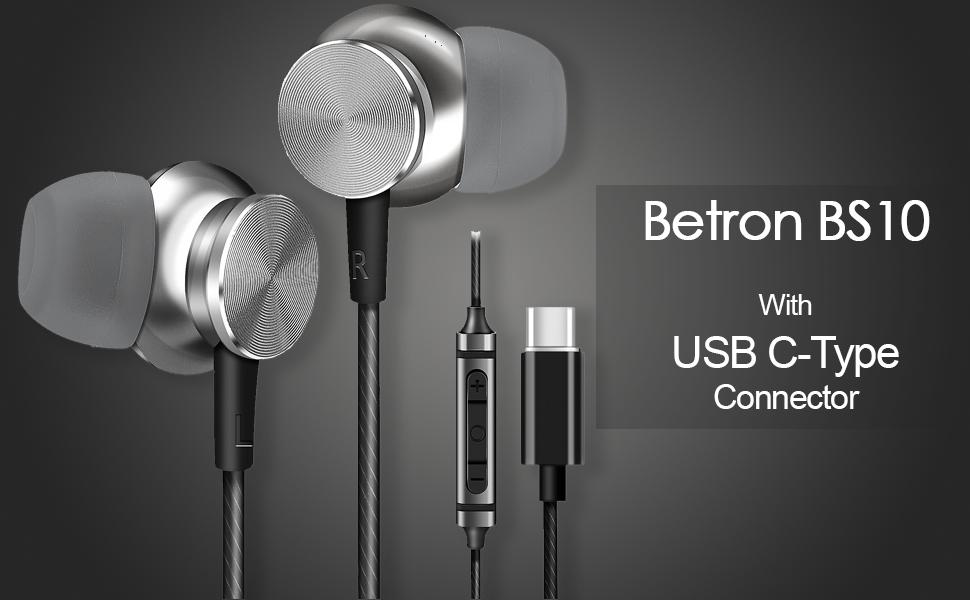 BS10 Earphpnes, Earphones, C-type connector, c-type earphones, earphones with microphone