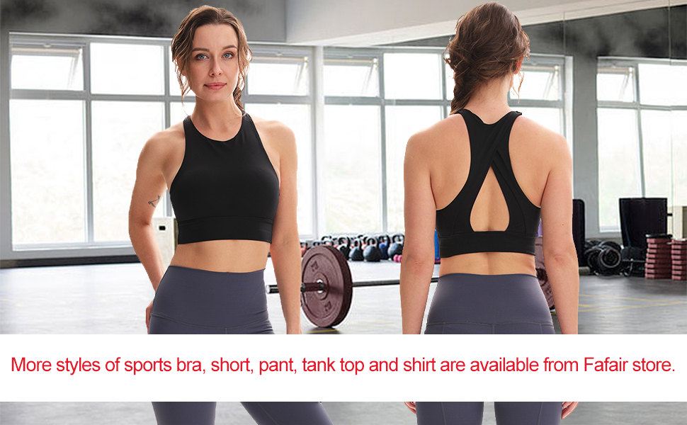 sport bras cropped for women yoga gym workout home running walking bike