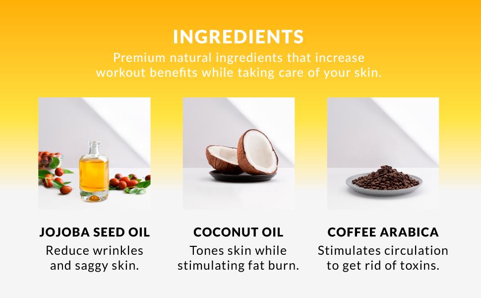 jojoba coconut oil coffee arabica natural ingredients wrinkles