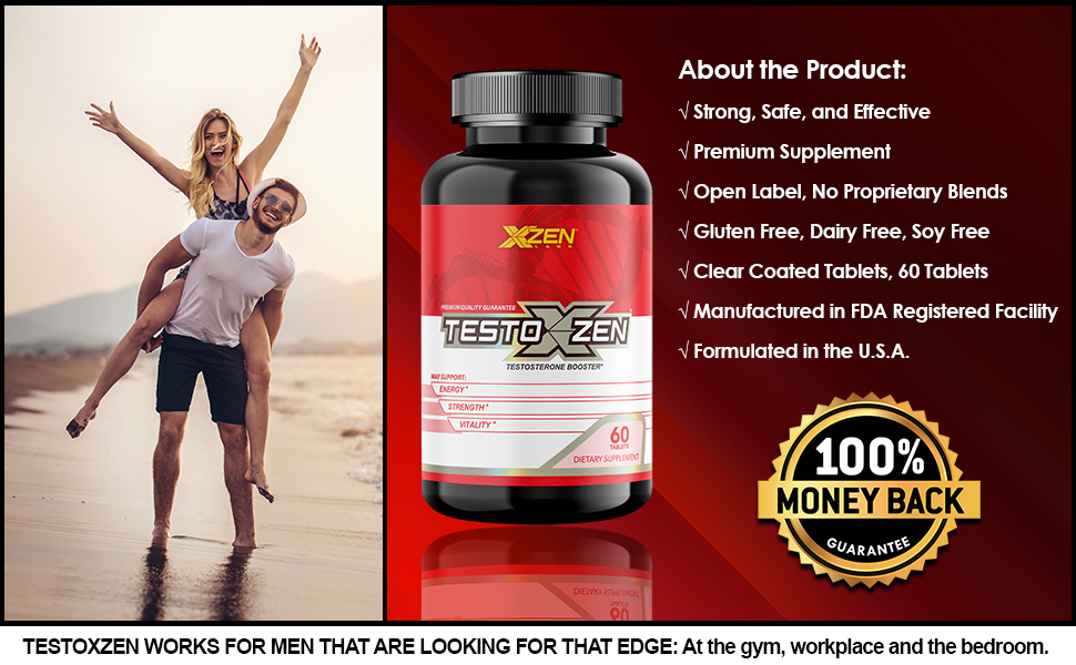 xzen testoxzen testosterone supplement couple men