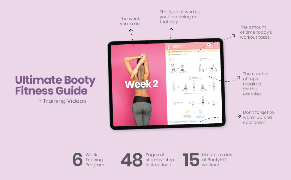 Booty Workouts Hip Trainer Bands Fitness Guides and Videos