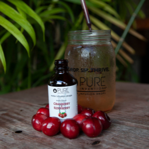 Pure Inventions Water Infusion Drops Cranberry Elderberry Green Tea Peach Healthy Sugar Free Duo