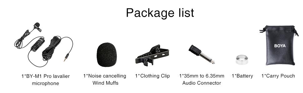 boya by-m1 pro lapel microphone