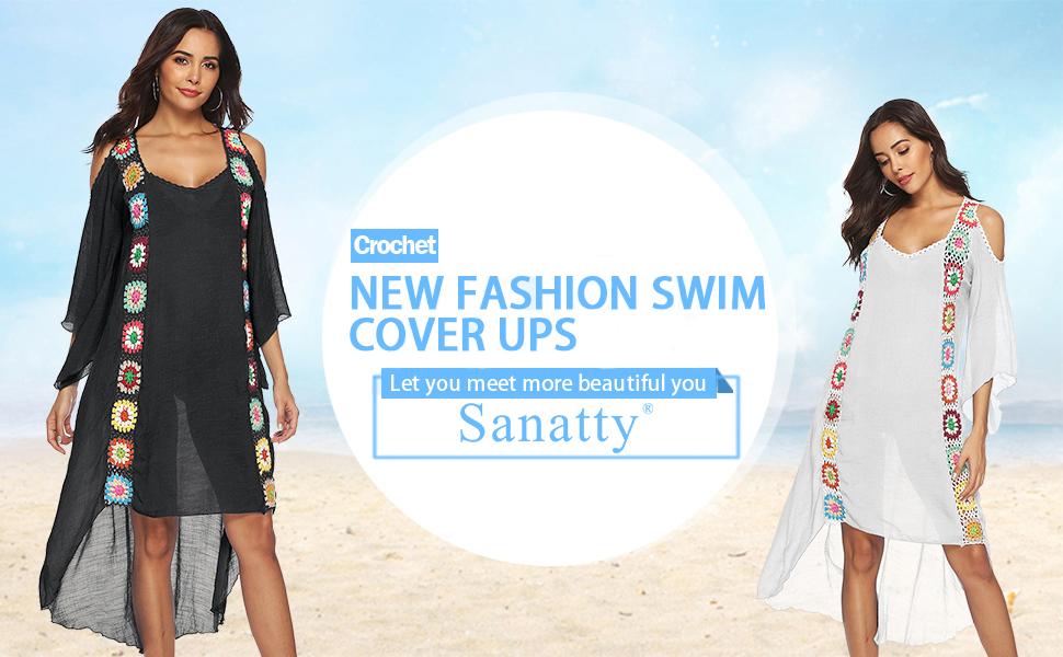 women swim cover ups plus size
