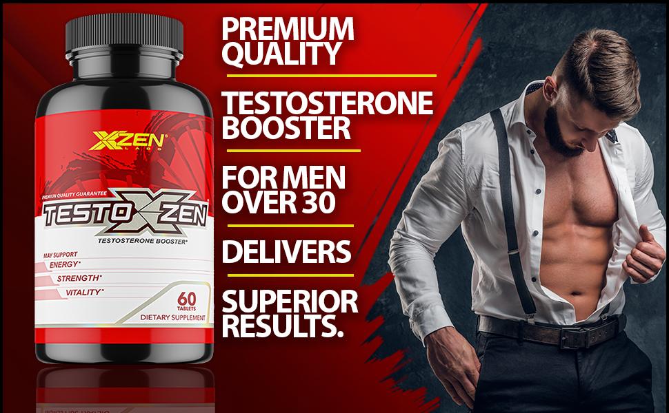 testoxzen testosterone booster for men energy strength vitality