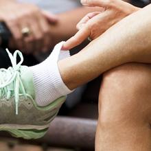 Doctor's Choice Diabetic non-binding leg quarter sock