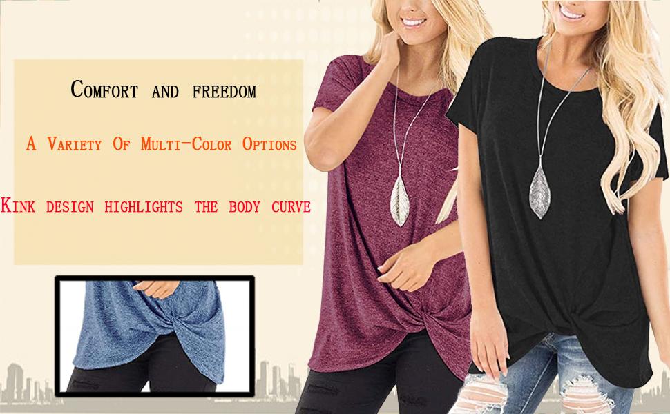 front twist shirt womens tops for leggings womens lounge tops womens nike t shirt womens summer