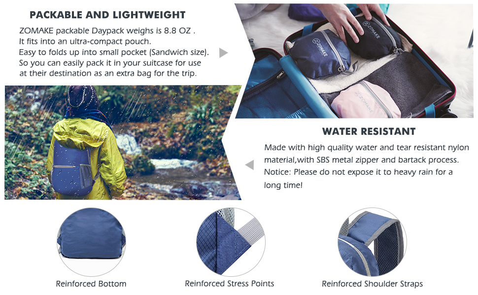 water resistant packable backpack