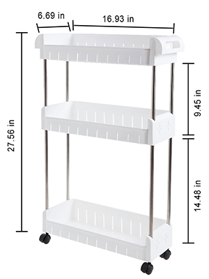 slim storage tower cart narrow shelving unit kitchen tiered storage cart slim bathroom gap storage