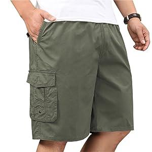 lightweight cargo shorts for men