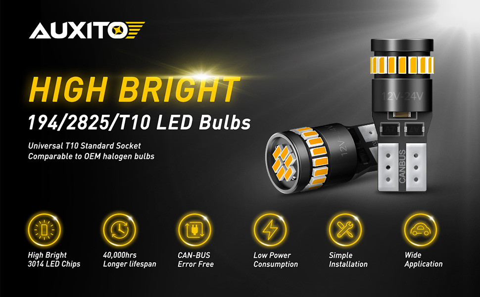 amber 194 led bulbs