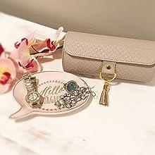 Vlando Viaggio Small Jewelry Case, Travel Accessory Storage Box