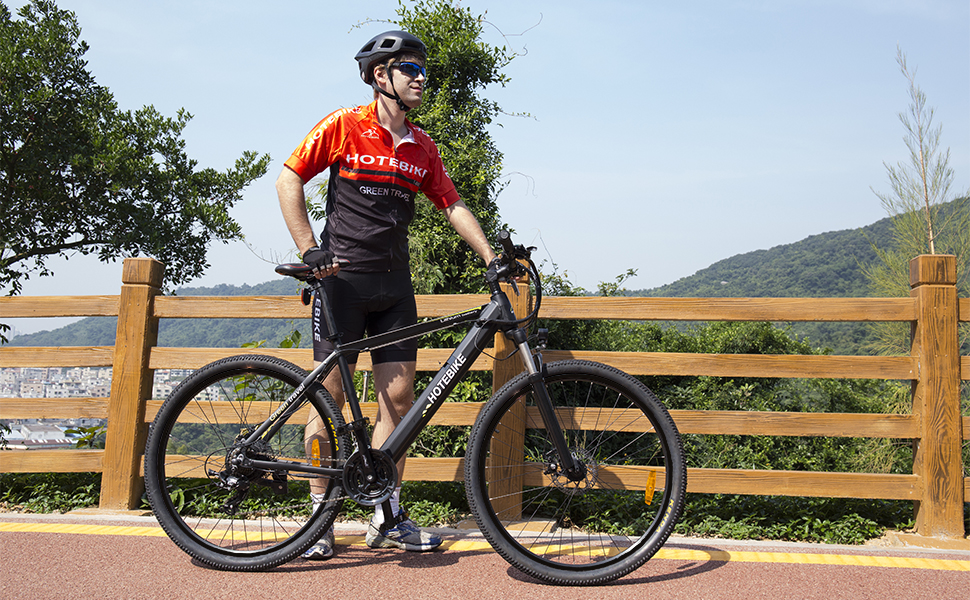 HOTEBIKE New Design 26 Inch Electric Mountain Bike With Removable Lithium-Ion Battery