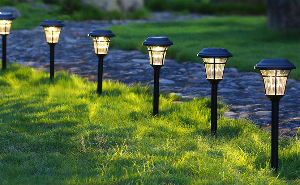 Maggiftt Solar Pathway Lights, beauty your garden.