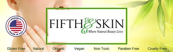 fifth & skin, fifth and skin, natural skin care, made in usa, organic skin care, anti-aging