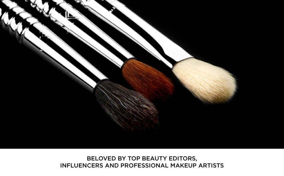 Makeup brushes engineered to better hold apply