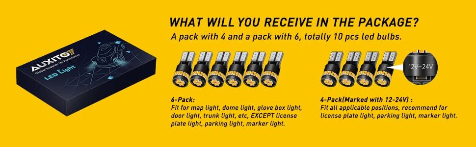 w5w amber led package