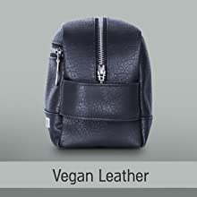 Premium vegan leather toiletry bag