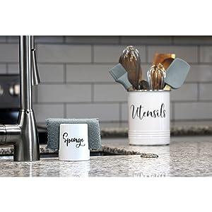sponge holder suction cup sponge holder for kitchen sink stainless steel sponge holder ceramic white