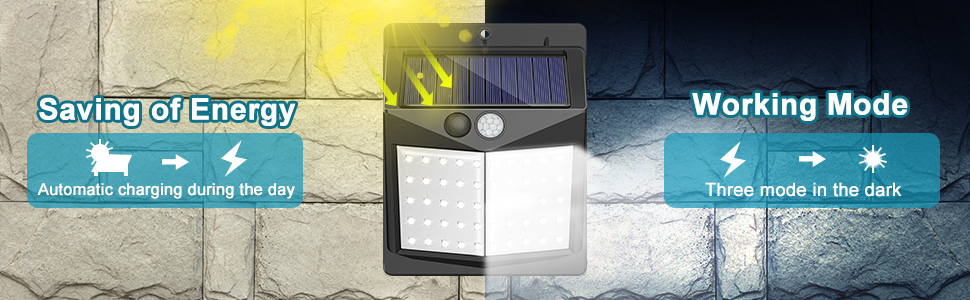solar lights outdoor 3 modes