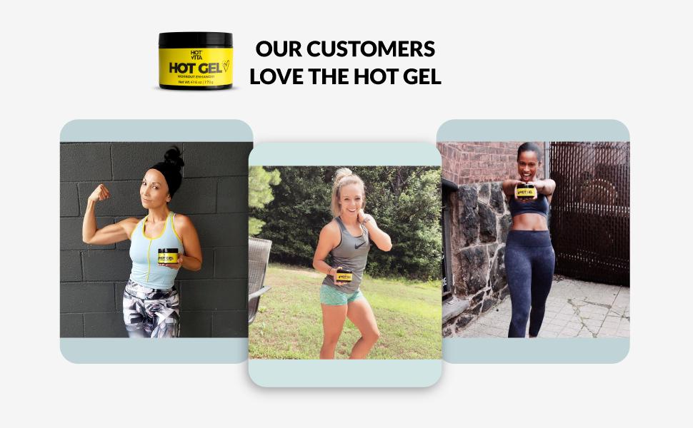 customer reviews hot gel workout training tones skin