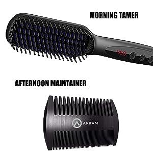 Beard Brush Straightener